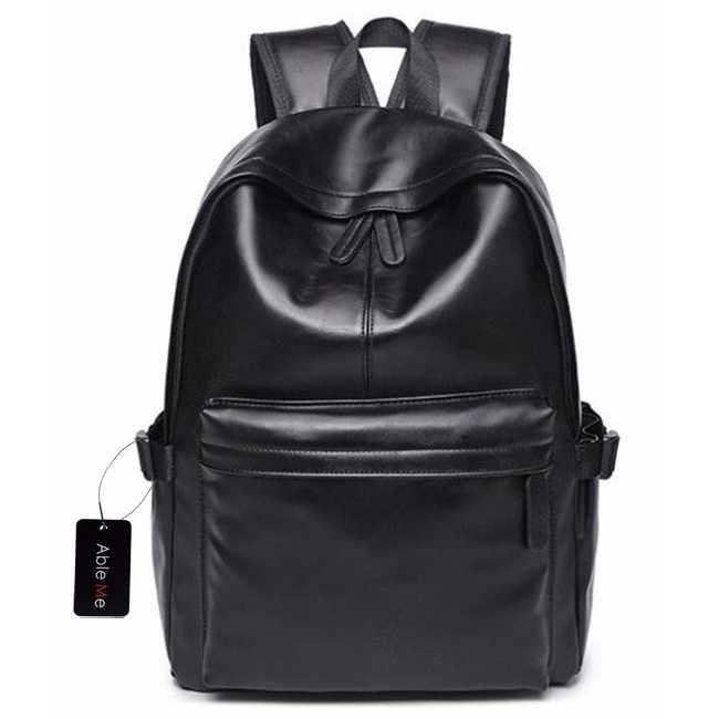 harga Ableme tas ransel korean style pu leather backpack - hitam Tokopedia.com