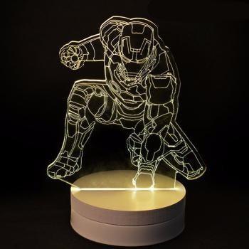 harga Lampu meja led 3d transparan model ironman / usb lamp dekorasi kamar Tokopedia.com