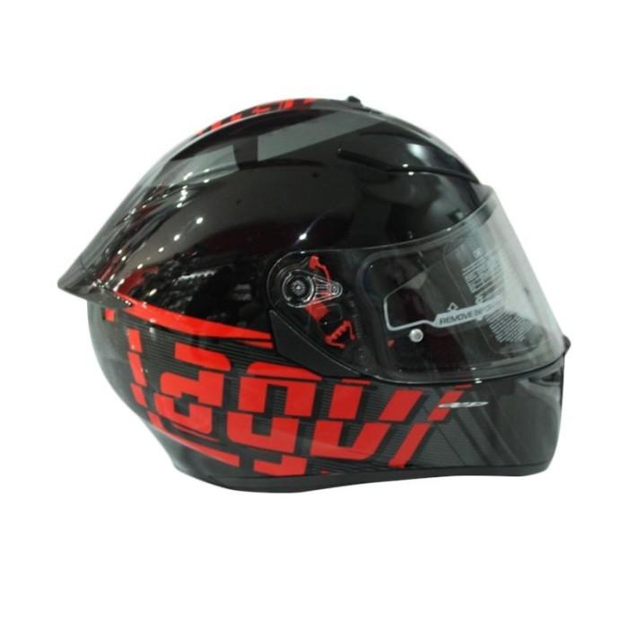 AGV K3 SV Myth Helm Full Face - Black Grey 2