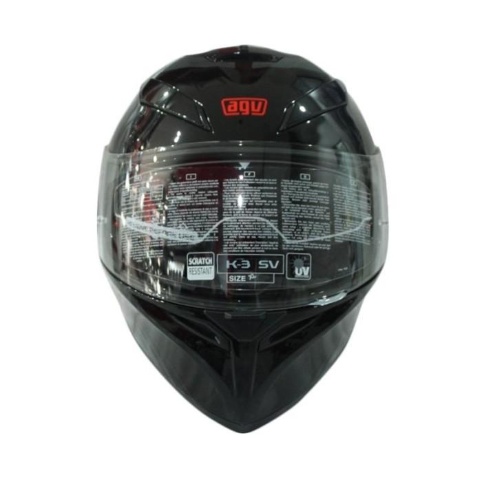 AGV K3 SV Myth Helm Full Face - Black Grey 1