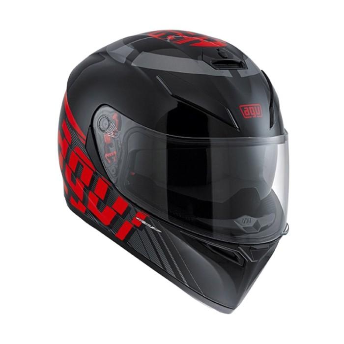 AGV K3 SV Myth Helm Full Face - Black Grey 4