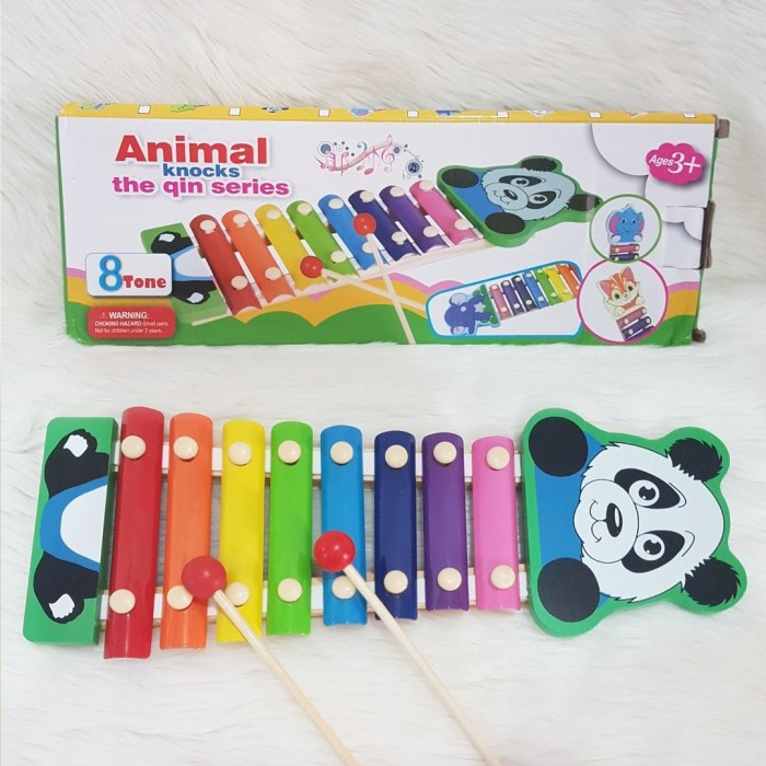 Alat Musik Ketukan Instrumen Kayu Xylophone / Mainan Anak