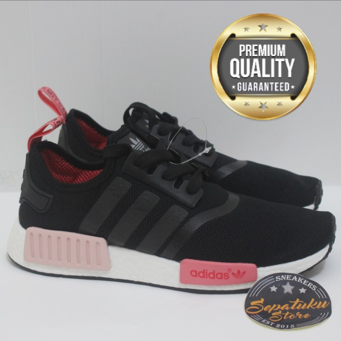56f8c15544231 Branded Shoes Preloved Dan Brand New; fe90f24a3a7e6 Jual Sepatu Adidas NMD  R1 Black Core Peach Pink Women - Premium .. ...
