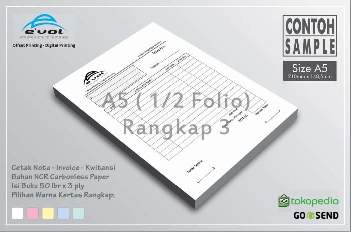 Jual Cetak Notakwitansisurat Jalaninvoice Ukuran A5 3 Ply Kota Tangerang Evol Printing Tokopedia