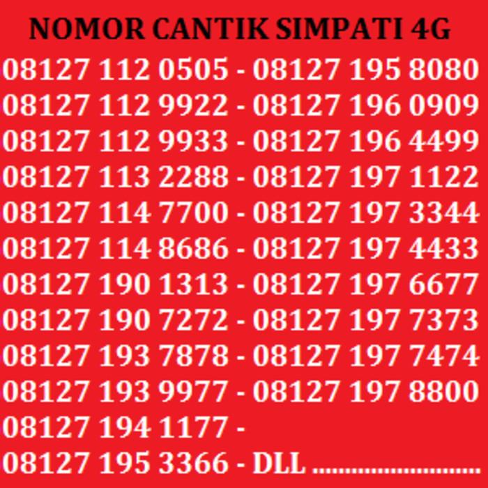 Nomor Cantik Kartu Perdana Nomor Simpati No Telkomsel Indosat XL Axis