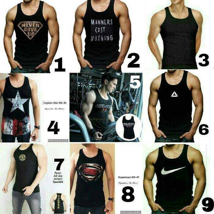 harga Singlet Baju Kaos Fitness Gym Fitnes Underarmour Under Armour  Punisher Tokopedia.com 502ca8ec0a