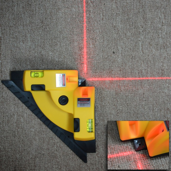 Vertikal Horizontal Garis Laser Proyeksi Tingkat Persegi Sudut Siku 90