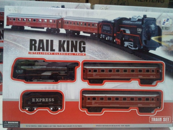 harga Mainan kereta api rail king intelligent classical train ideal track ho Tokopedia.com
