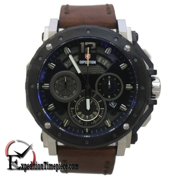 Jam Tangan Expedition E 6402 MC Silver Black Cream