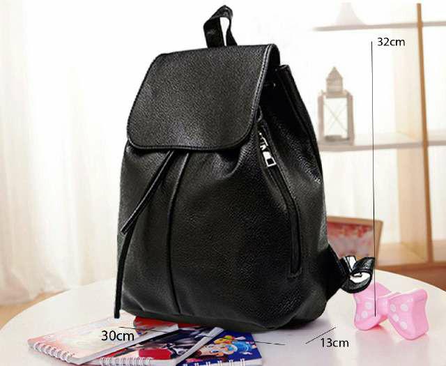 Tas ransel hitam polos branded backpack import b2b86a491a