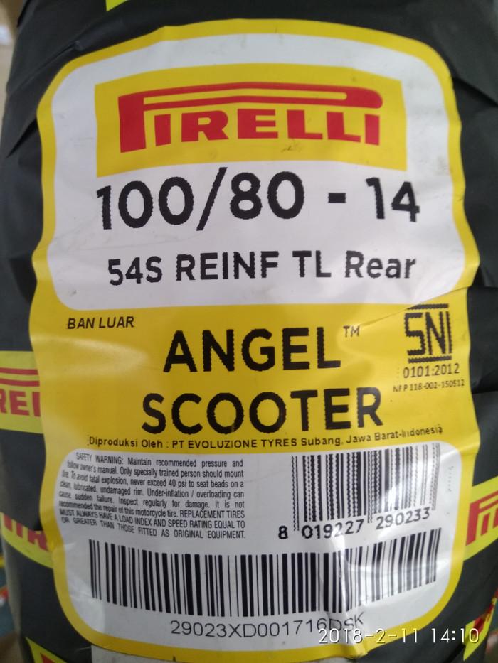 harga Ban pirelli angel scooter uk 100/80 ring 14 Tokopedia.com