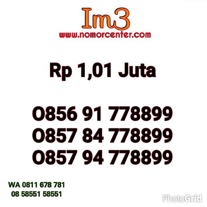 Nomor Cantik Indosat Im3 Seri Triple AA 778899_0856 91 778899 #IN2 362