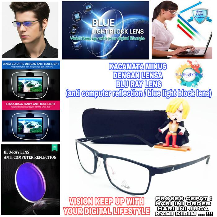 Jual Kacamata Minus Frame Adidas Dengan Lensa Minus Blueray Anti ... aaf6302246