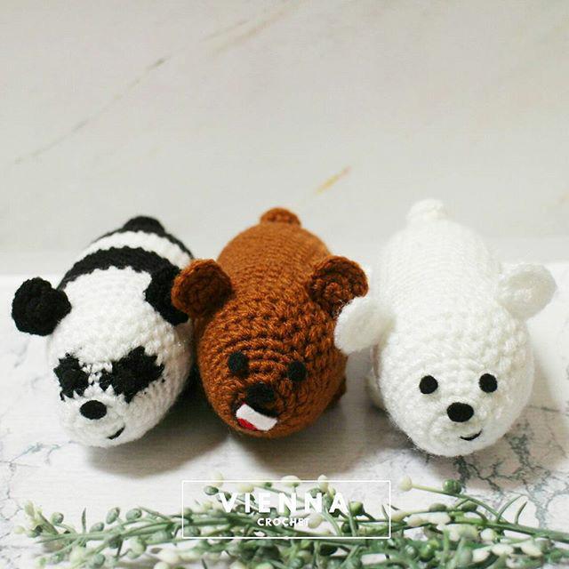 Ravelry: Three Bears (Ice Bear, Brizzly, Panda) pattern by SugarLYS | 700x700
