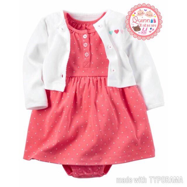 harga Dress carter's girl set 2 in 1 chubby red / romper set bayi Tokopedia.com