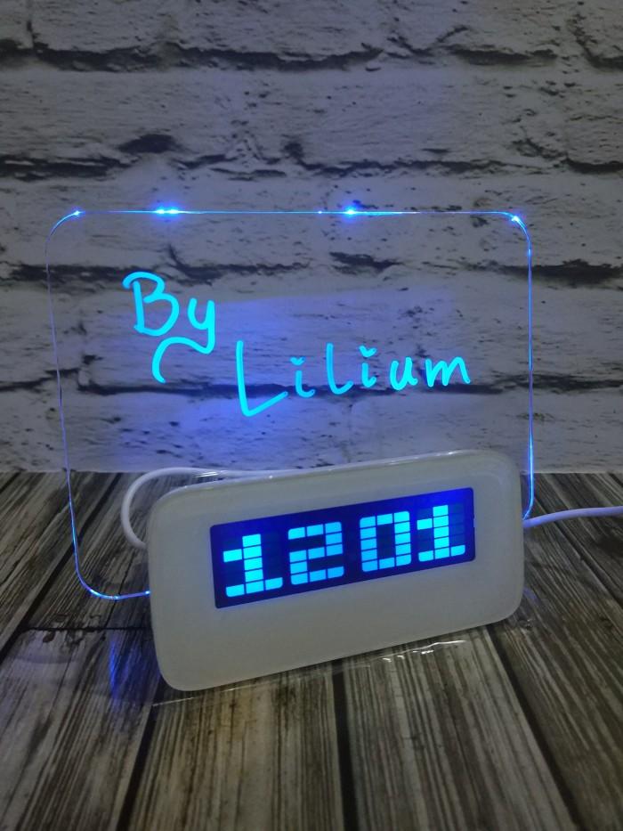 harga Digital clock led message board + usb hub - jam weker digital alarm Tokopedia.com