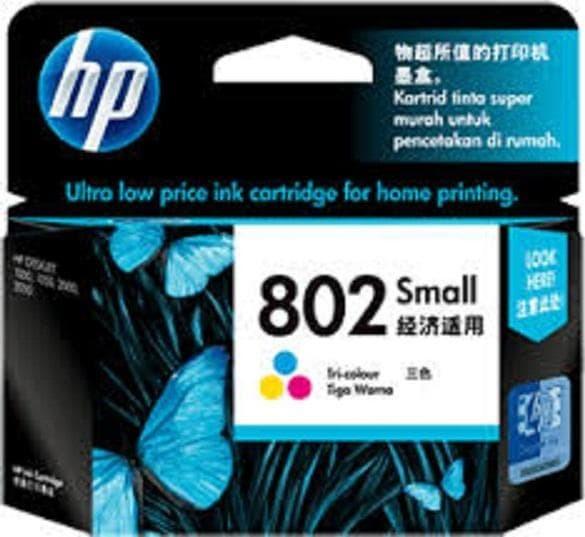 harga Tinta hp 802 colour small original Tokopedia.com