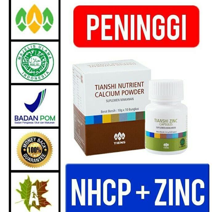 ... Promo Paket Peninggi Herbal Nhcp Zinc Peninggi Badan Tiens Murah
