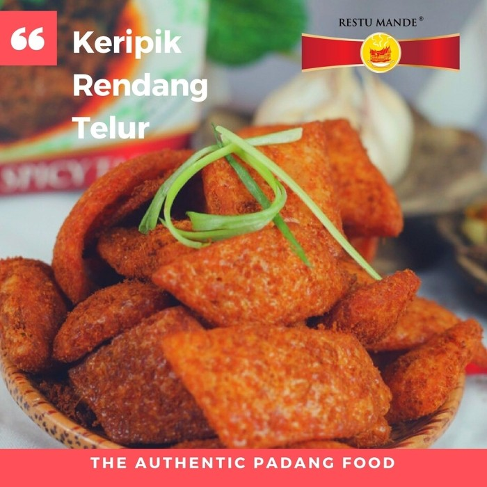 Foto Produk KERIPIK RENDANG TELUR RESTUMANDE - Masakan Padang dari Rendang Padang Kemasan
