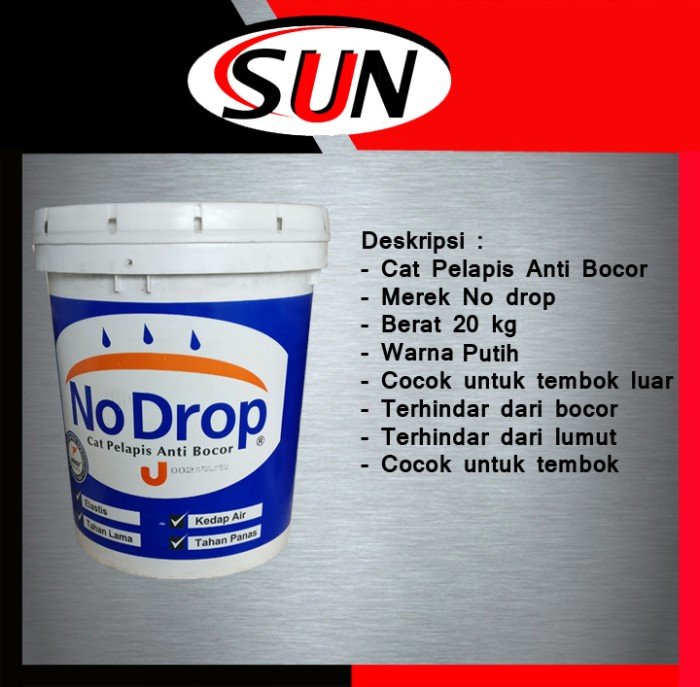 harga Cat tembok no drop putih 20 kg eksterior anti bocor waterproofing Tokopedia.com