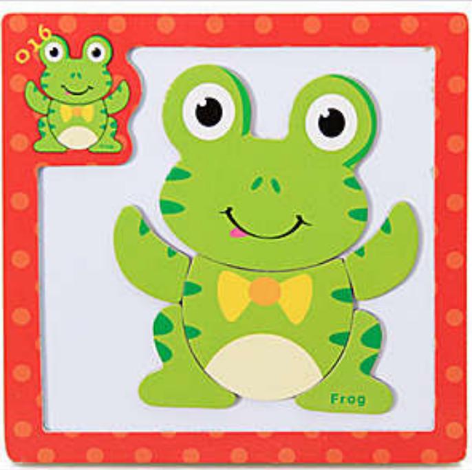Nixnox Mainan Edukasi Anak Puzzle Magnet Seri A Frog
