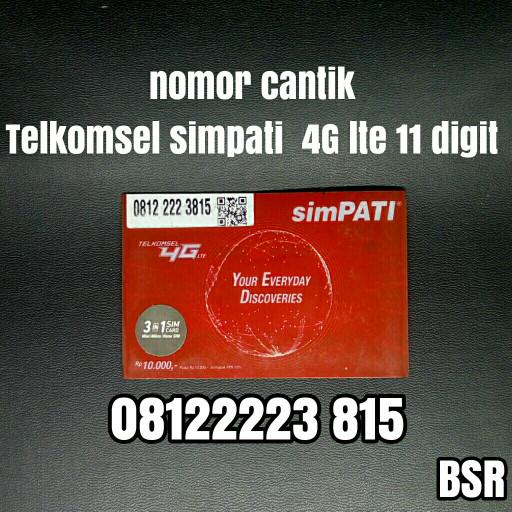 nomor cantik Telkomsel simpati 4G lte 11 digit kartu perdana bagus 518