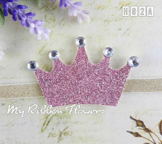 Baby headband bandana bayi tiara princess myribbonflowers h82a pink