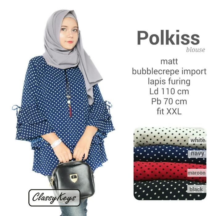 Baju atasan wanita muslim  polkiss blouse