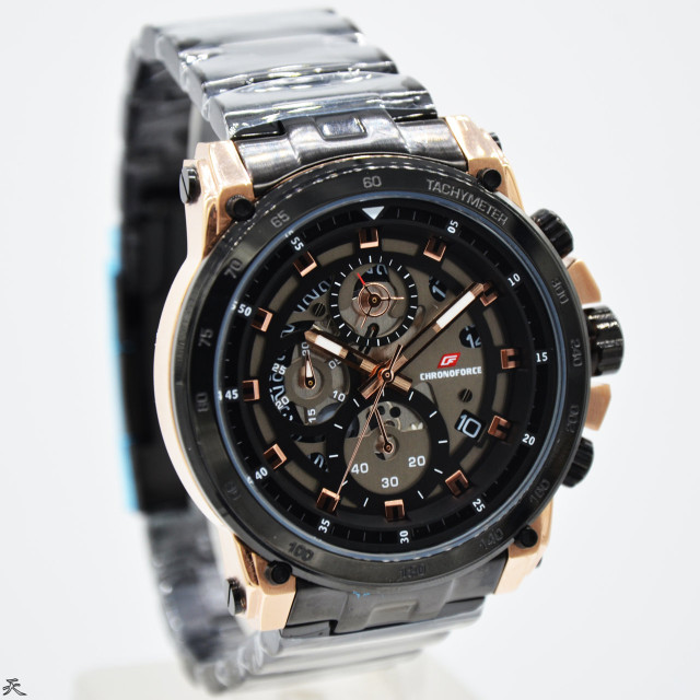 harga Jam tangan pria original chronoforce 5291 black rose gold Tokopedia.com