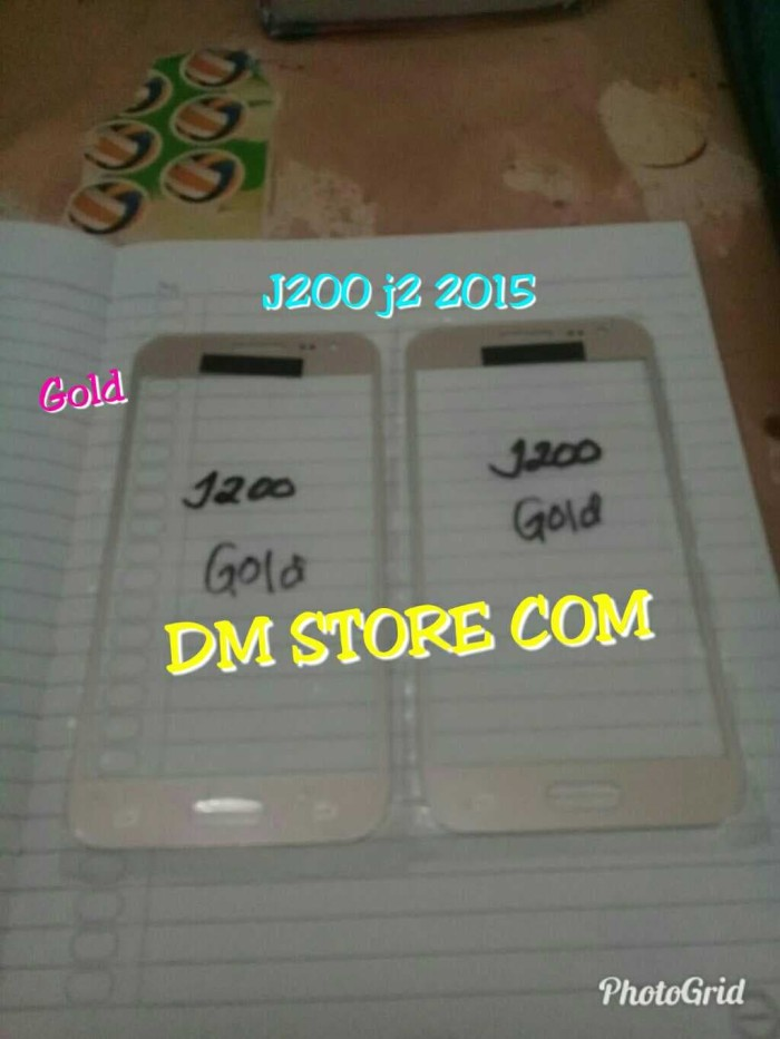 KACA DIGITIZER GORILLA GLASS TOUCHSCREEN SAMSUNG J200 J2 2015 ORI GOLD