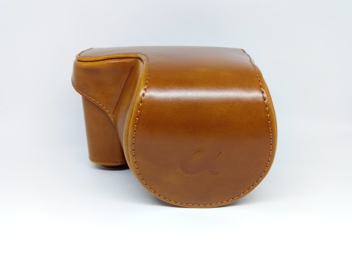 harga leather case for sony alpha a5000 or a5100 tas kamera - brown Tokopedia.com