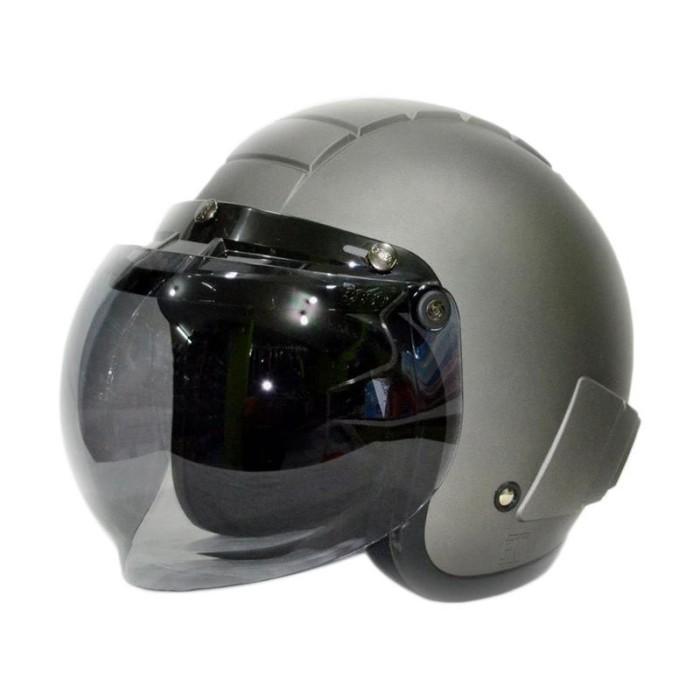 Helm anak Retro Lucu motif Mobil Lucu 1-5 thn - Hitam/Putih.