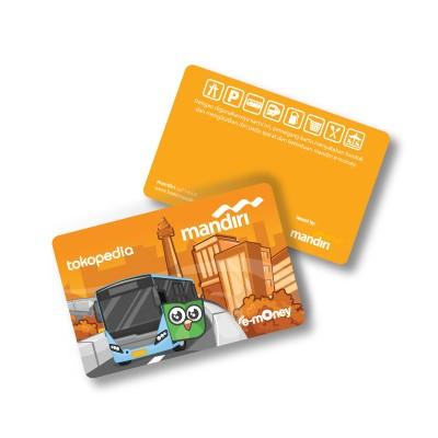 harga Kartu e-money / emoney eksklusif tokopedia - edisi  transjakarta Tokopedia.com