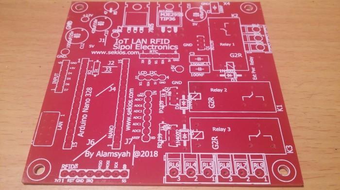 Jual PCB Arduino IoT LAN RFID LCD RTC IO Sensor, Relay dan MySQL - Sipol |  Tokopedia