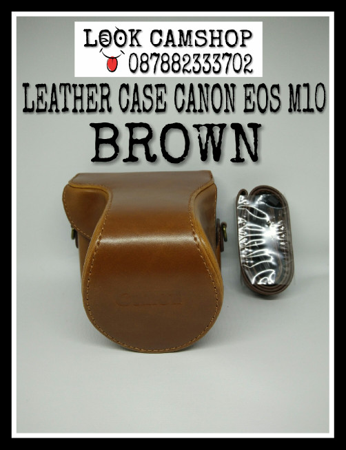 harga Leather case camera bag cover tas kamera canon eos m10 m 10 - brown Tokopedia.com