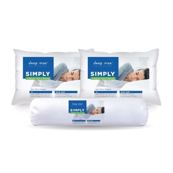 Sleep max bantal simply paket 2 bantal dan 1 guling