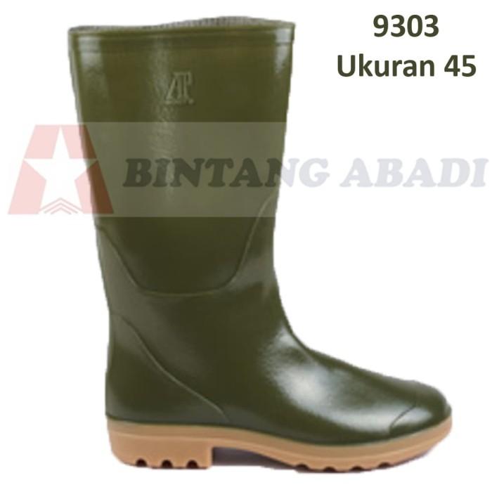 Jual Ap Boots 9303 Sepatu Boot Kerja Karet Hijau Tua Tinggi