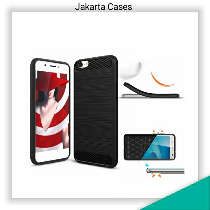 Oppo A39 / A57 / JC Rubber Carbon Soft Case Casing Cover