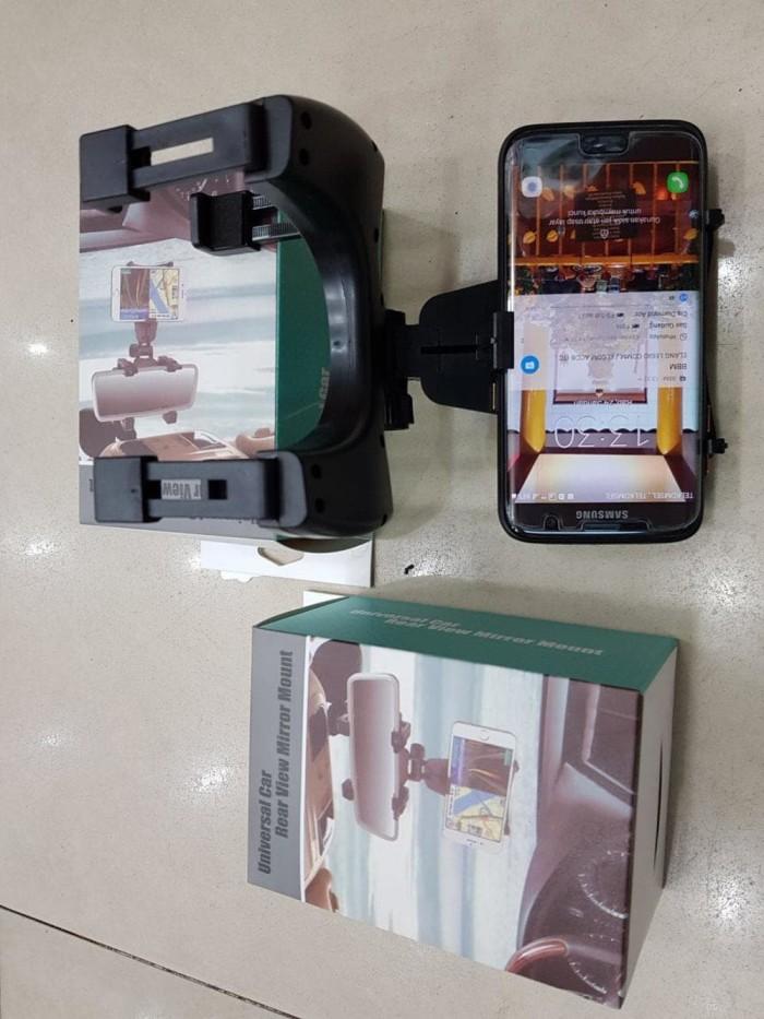 harga Rear mirror smartphone mount car holder-hitam Tokopedia.com
