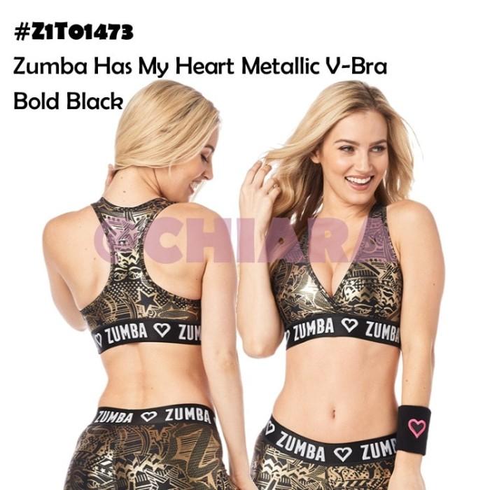 714dc7b1570b6 Jual Zumba Has My Heart Metallic V-Bra - Hitam