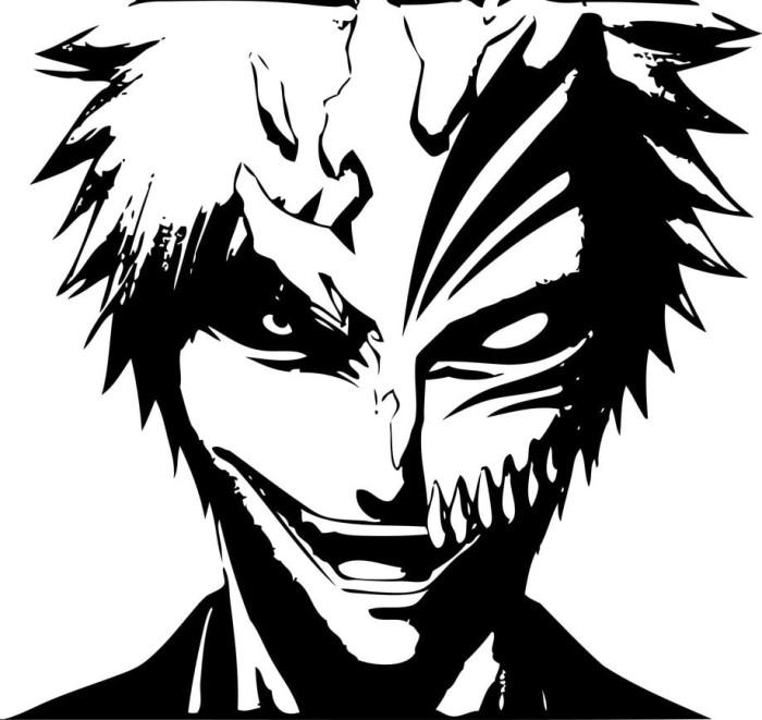 Jual Stiker Transparan Anime Ichigo Hollow Stiker Murah Anime
