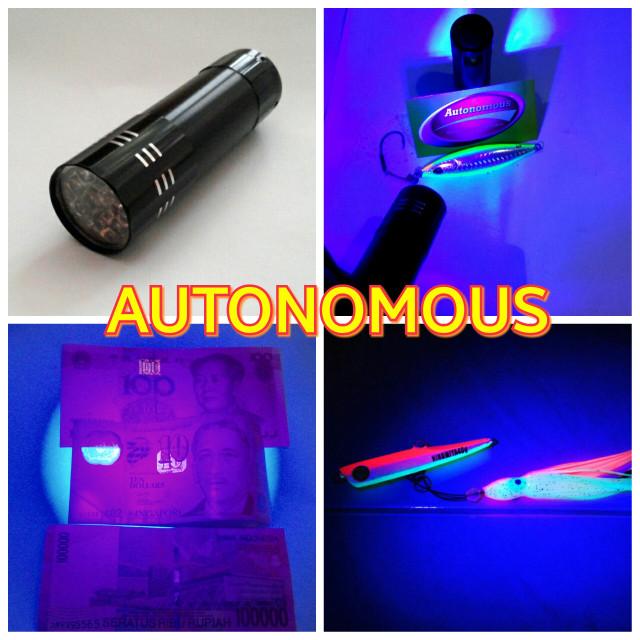 harga Senter /flashlight led uv( ultraviolet) 9 led + baterai Tokopedia.com