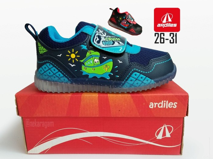 ... harga Sepatu anak lampu original ardiles javas sepatu anak tk led nyala Tokopedia.com