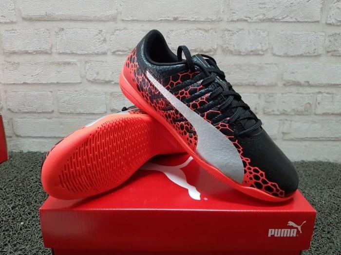 344e010a6808 Jual Sepatu Futsal Puma evoPower Vigor 4 Graphic IT Black 104459 01 ...