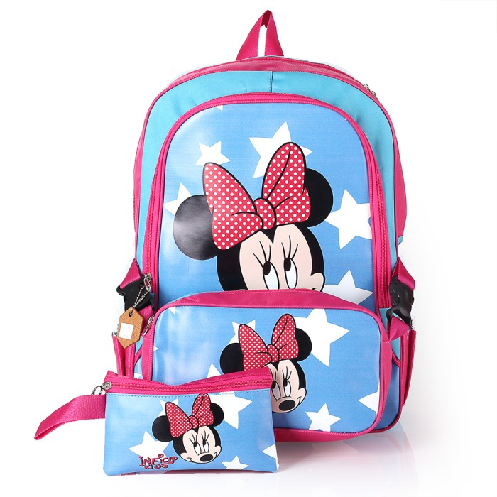 Tas sekolah ransel anak perempuan tas karakter mini mouse sd tk  paud