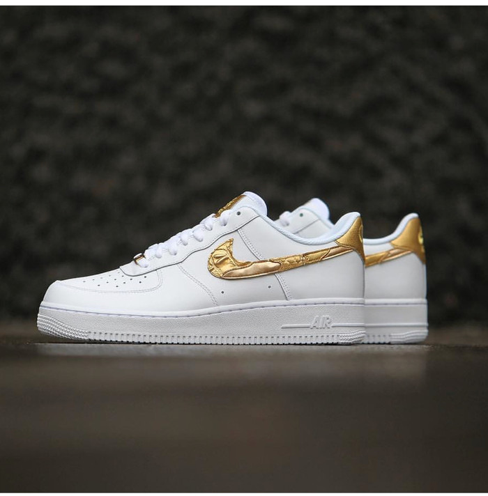 nike air force 1 golden patchwork