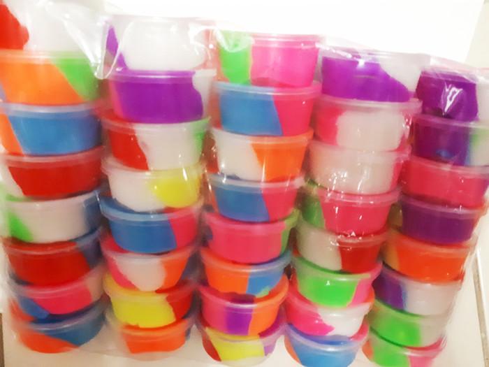 Foto Produk slime mangkok 5cm new model kualitas premium / warna slime rainbow / dari kunojadoel