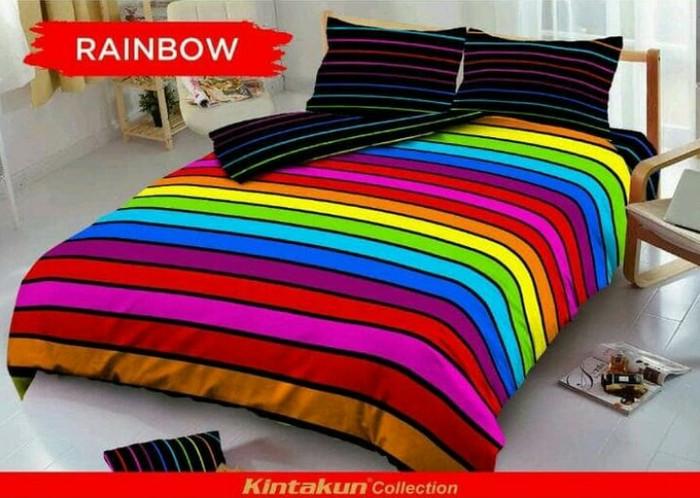Sprei kintakun dluxe king 180x200 no.1 rainbow / seprai / seprei