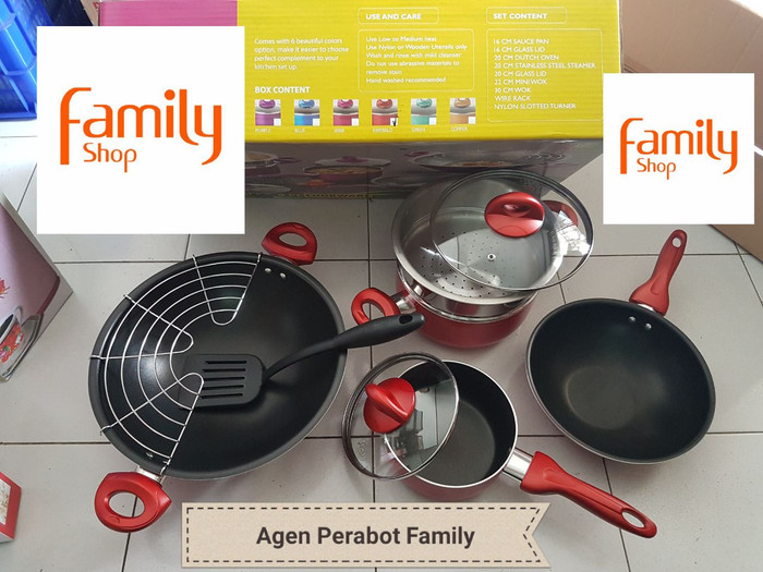 SUPRA PANCI TEFLON COOKWARE SET 9 PCS ROSEMARY TEBAL