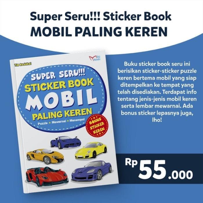 Jual Sticker Book Mobil Paling Keren Seribubuku Tokopedia